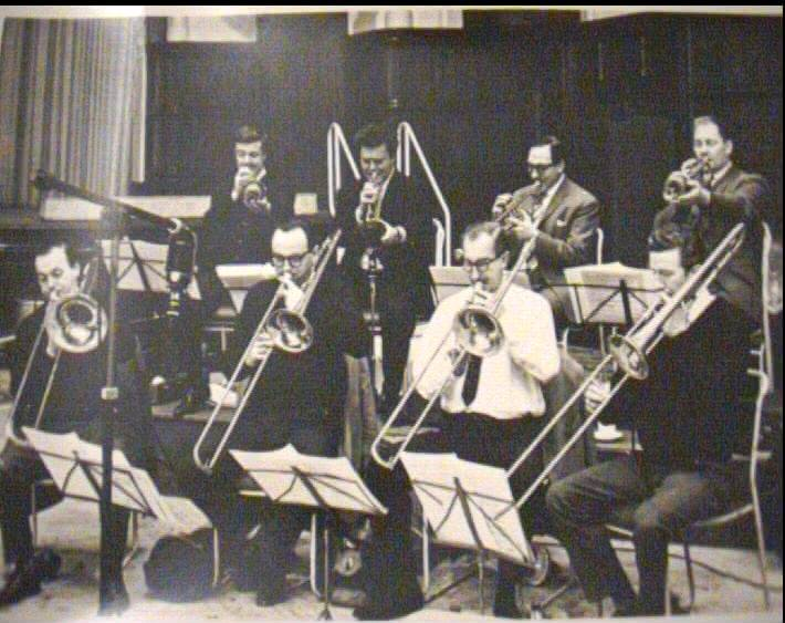Recording session trumpets left to right bert ezzard kenny